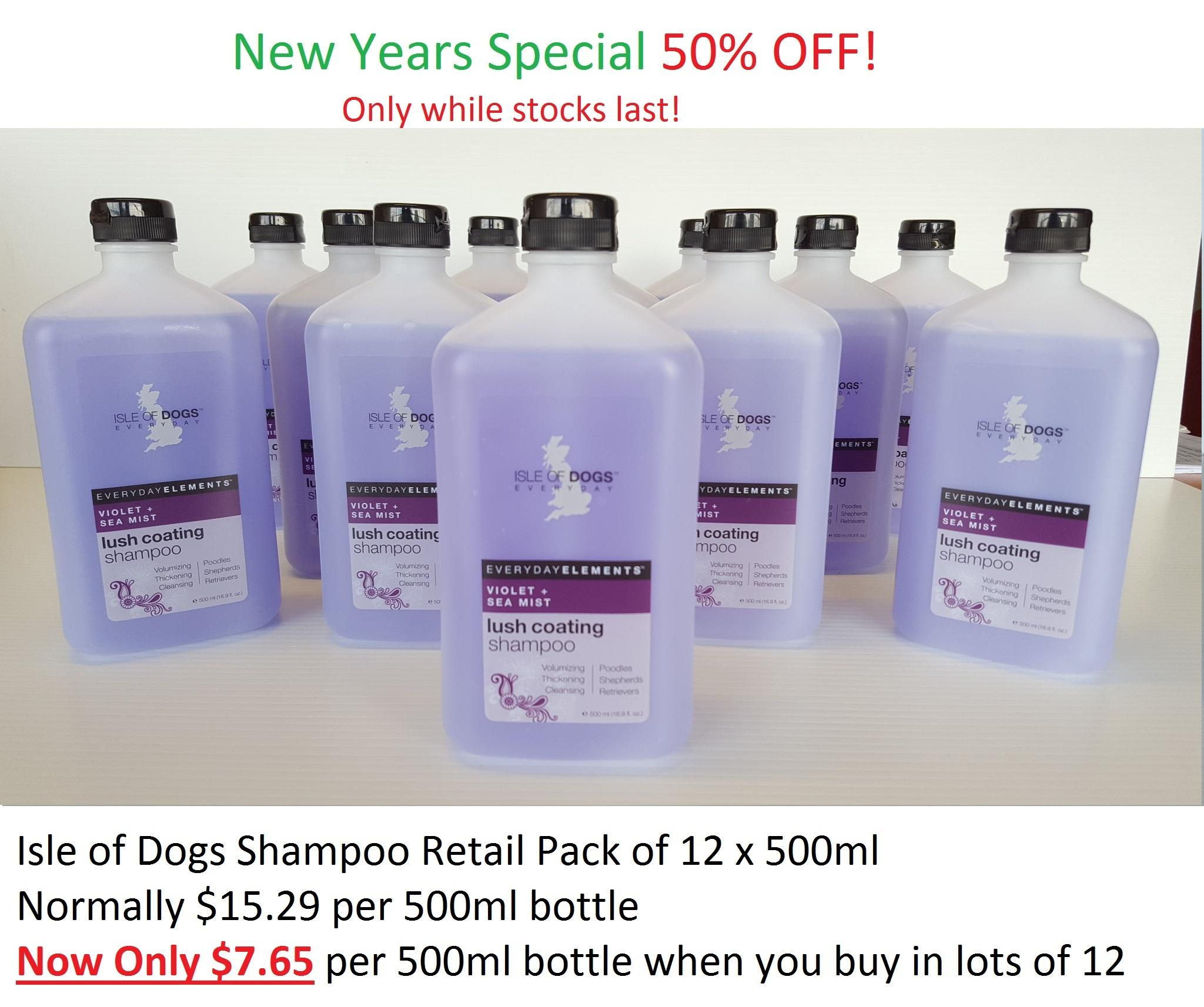 Isle Of Dogs Every Day Lush Coating Shampoo Violet & Sea Mist 500ml 12 pack