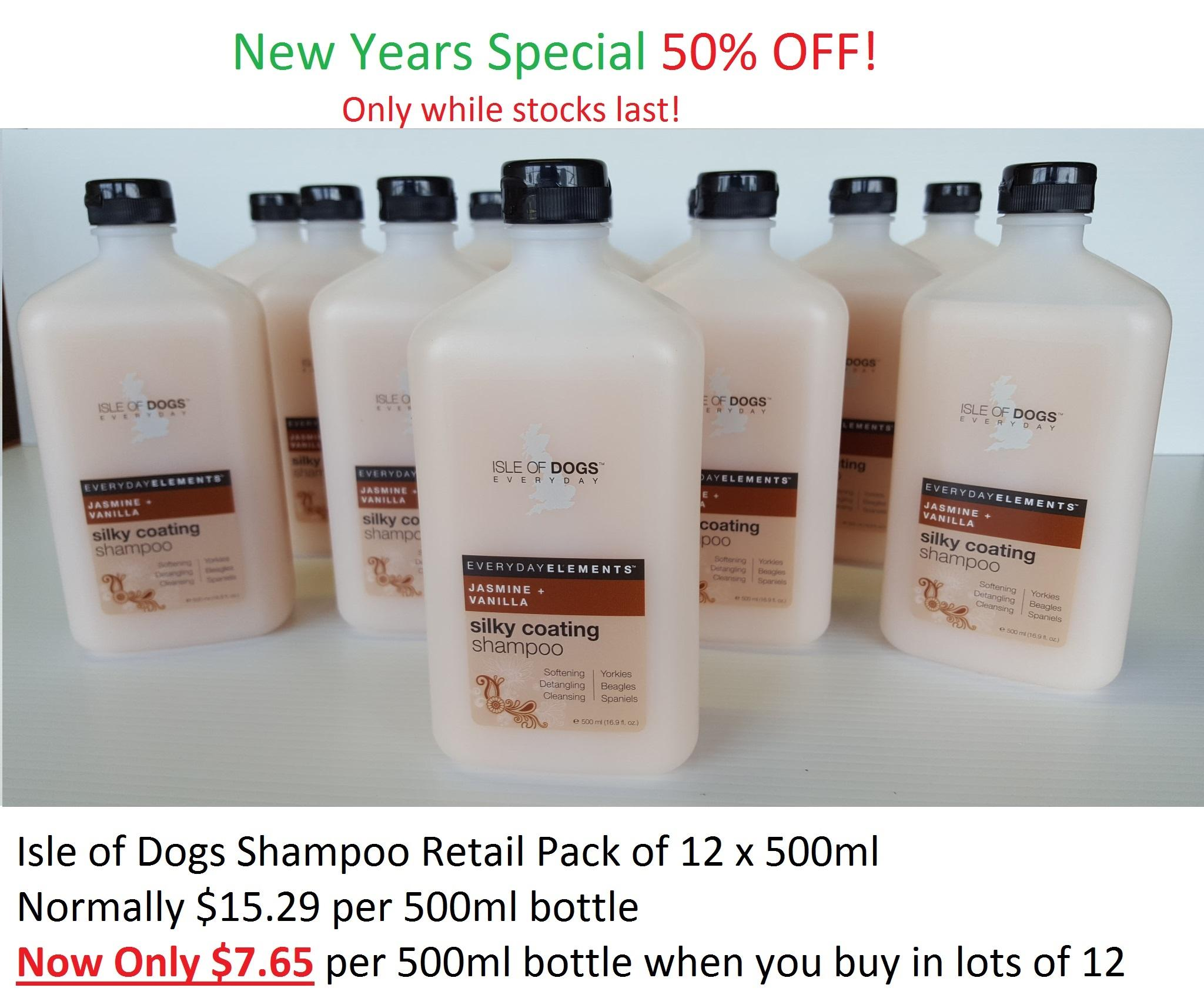 Isle Of Dogs Every Day Silky Coating Shampoo Jasmine & vanilla 500ml 12 pack