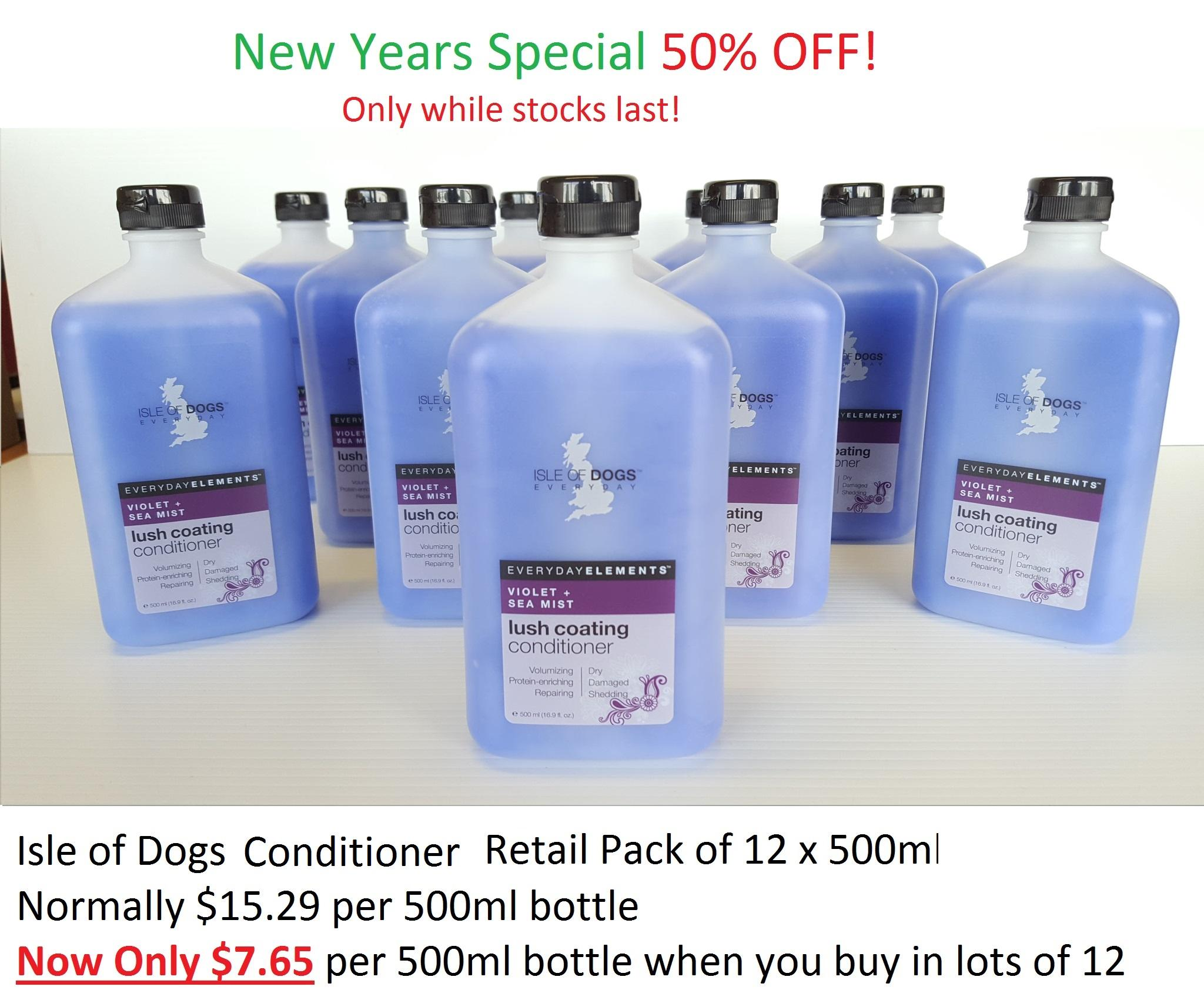 Isle of Dogs Every Day Lush Coating Conditioner Violet & Sea Mist 500ml