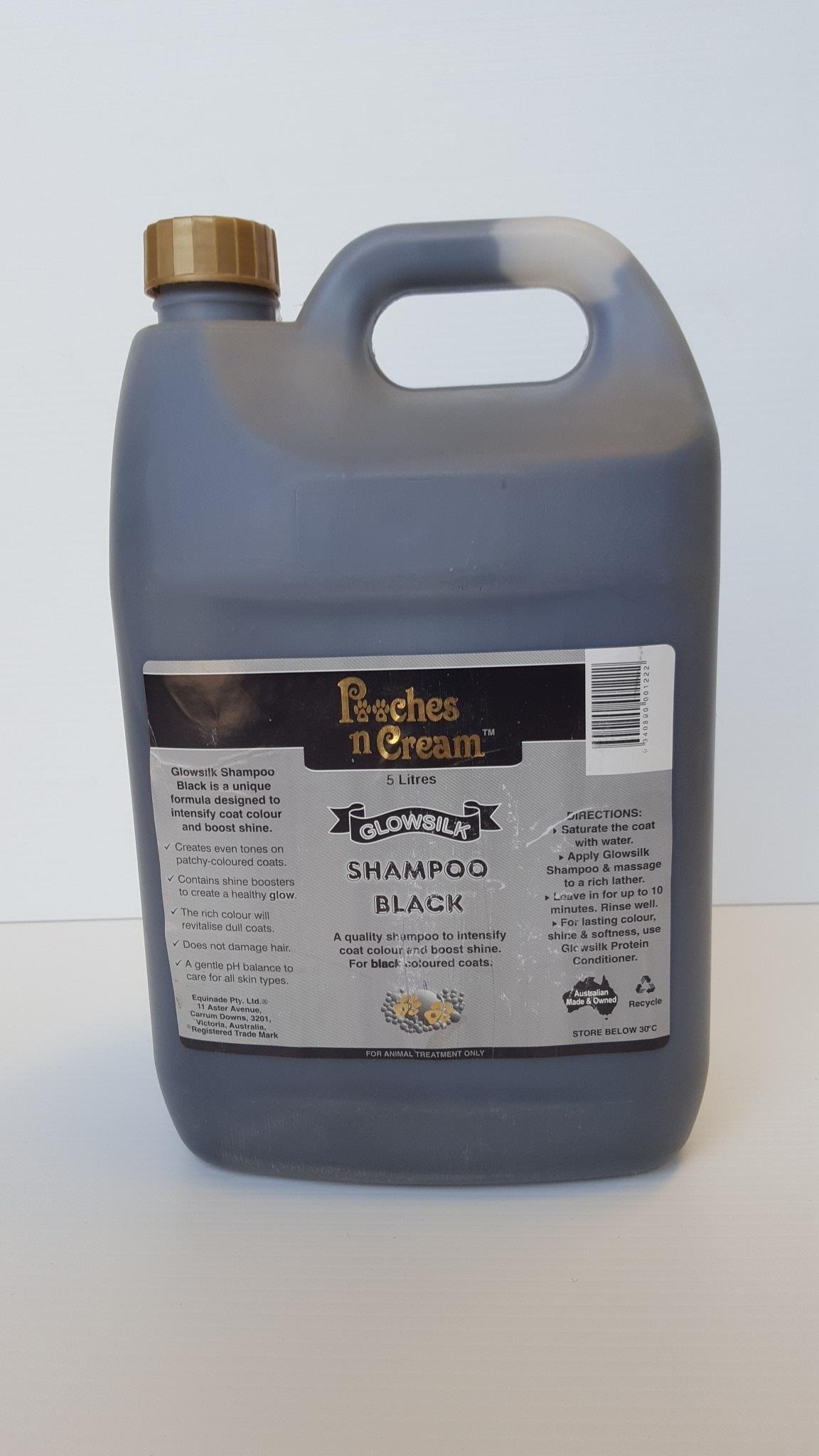 Pooches n Cream Glowsilk Shampoo - Black 5L