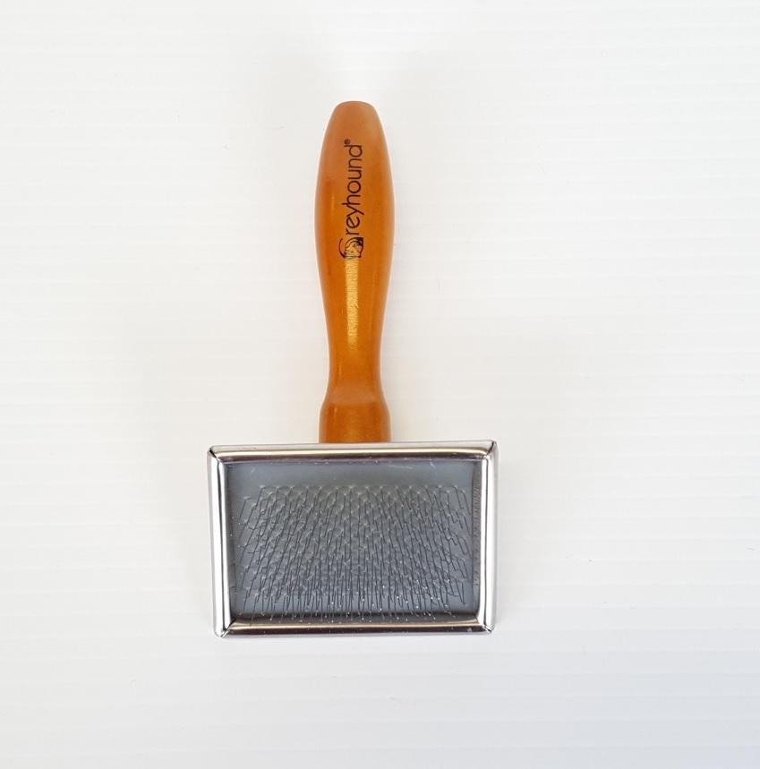 Ashley Craig GREYHOUND Wooden Slicker Small Brush