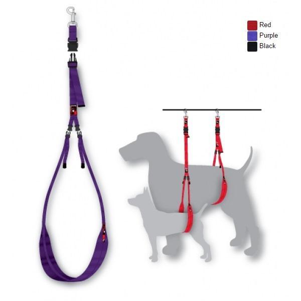 Black Dog Adjustable Grooming Body Sling Purple