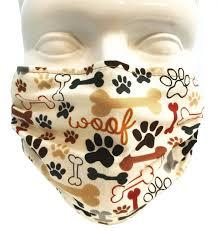 Breathe Healthy Dog Bones & Paw Prints Mask
