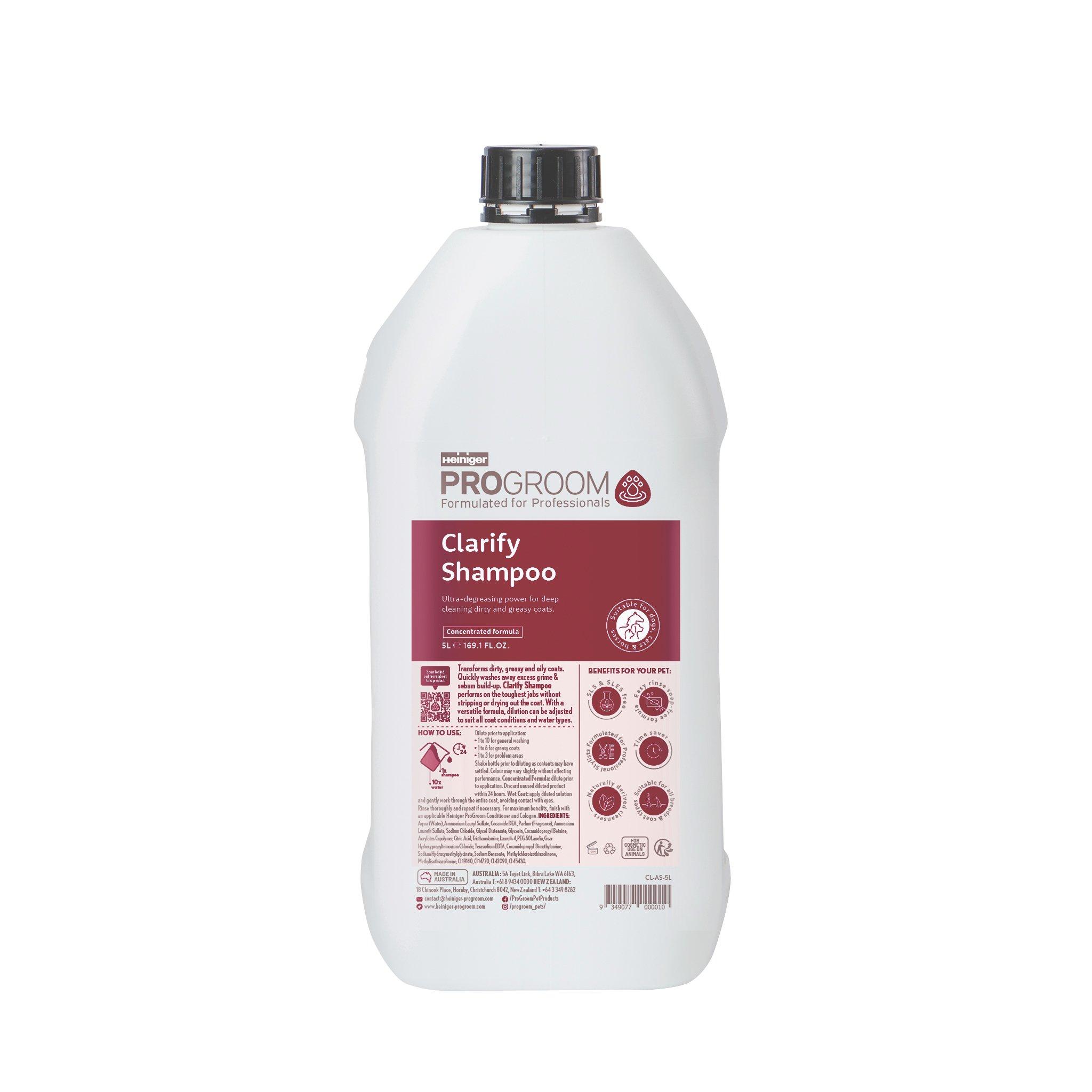 ProGroom Clarifying Shampoo - Amber 5 Litre