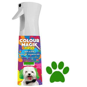 Colour Magic Pet Spray Emerald Green