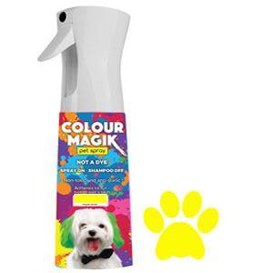 Colour Magic Pet Spray Canary Yellow