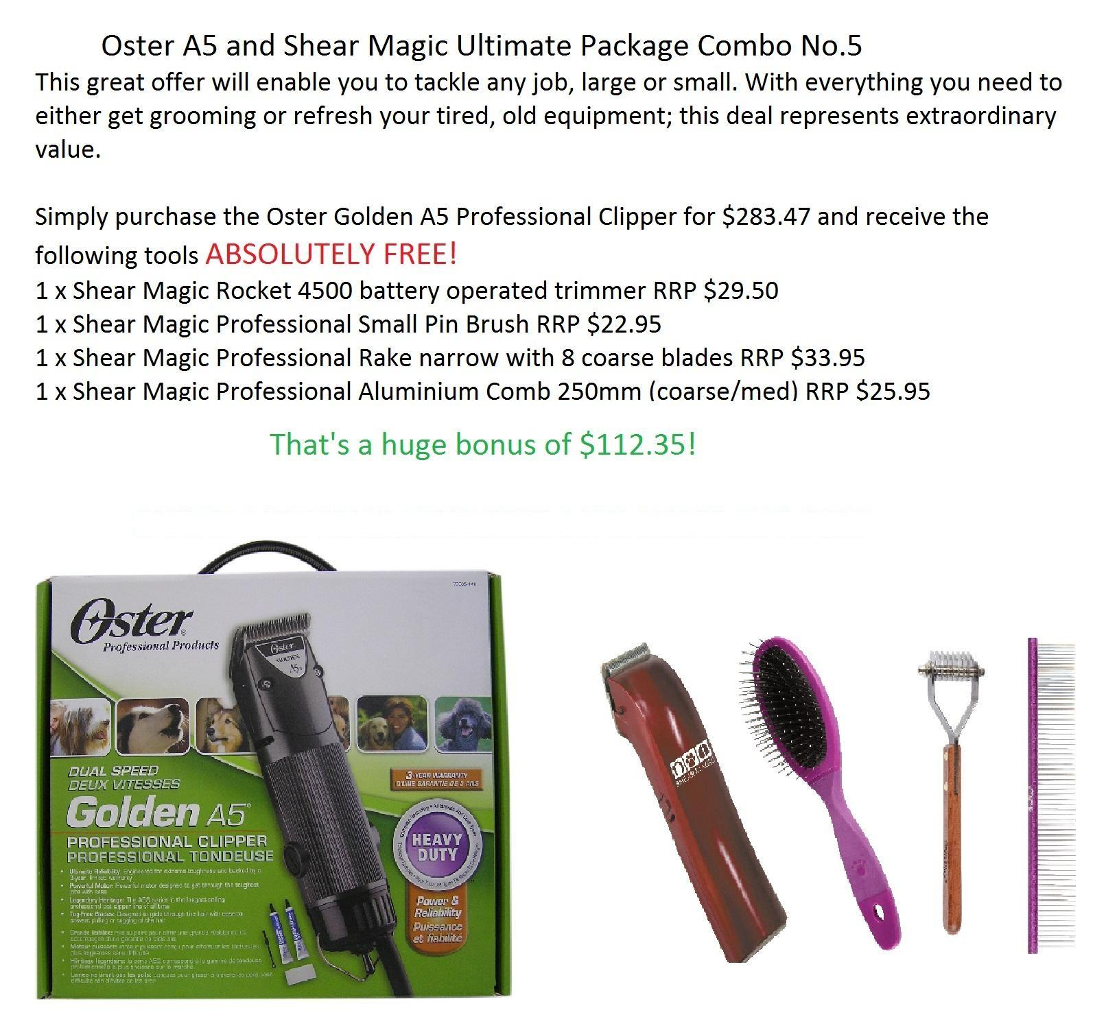 Oster A5 and Shear Magic Ultimate Package Combo No.5