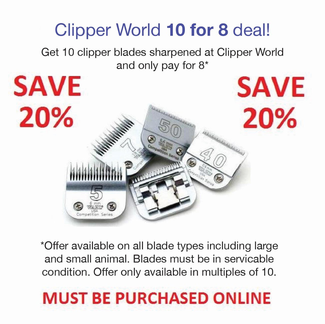 Clipper World 5 for 4 Sharpening Deal