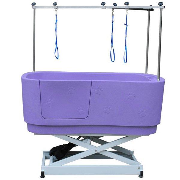 Durable Lifting Dog Tub With Paw Prints Purple H-112
