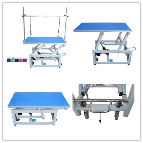 Electric Grooming Table N107 - Blue Top with Wheel