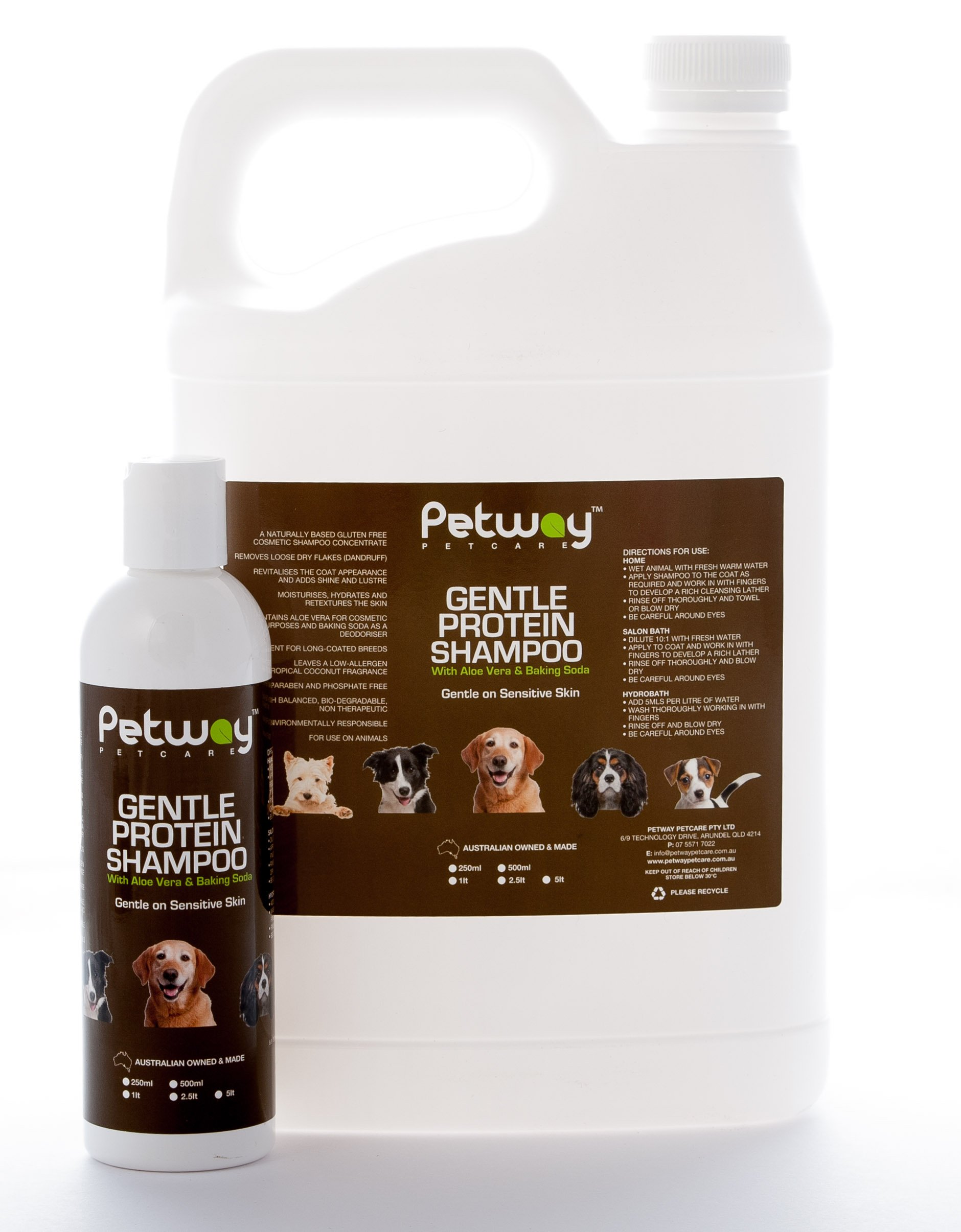 petway petcare gentle protein shampoo with aloe vera baking soda