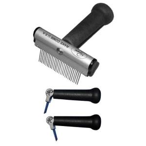 "Resco Soft Handle Rake Comb With Medium Tooth Spacing, 1"" Pins - PF0096"