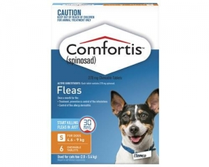 Comfortis Chewable Tablets For Dogs 4.6-9kg 6s Orange