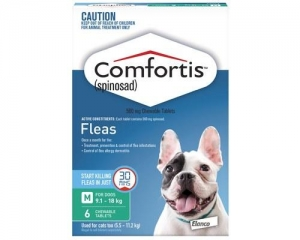 Comfortis Chewable Tablets For Dogs 9-18kg 6s Green