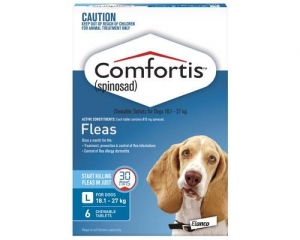 Comfortis Chewable Tablets For Dogs 18.1-27kg 6s Blue