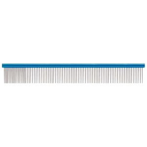 "Paw Brothers Round Spine Super Comb Large 10"" - Medium/Fine Blue"