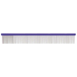 "Paw Brothers Round Spine Super Comb Large 10"" - Medium/Fine Purple"