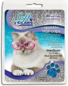 Soft Claws Feline Medium - Blue Sparkle