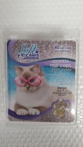 Soft Claws Feline Large - Gold Sparkle