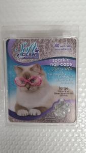 Soft Claws Feline Large - Silver Sparkle