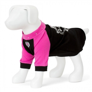 F&R FOR VP PETS BEVERLY HILLS - BLACK/PALE PINK - LARGE