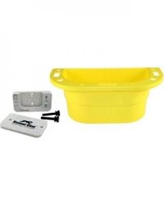 Kennel Gear Supply Caddy W/Plastic Bar MNT - Yellow