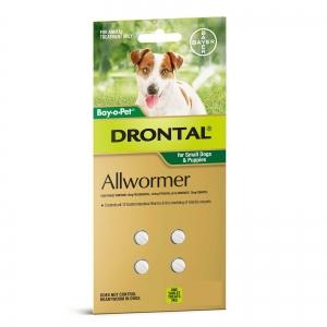 Drontal Small Dog Bay-O-Pet - 4Tablets
