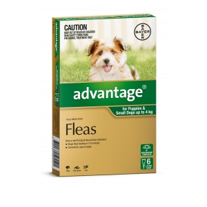 Advantage For Puppies & Small Dogs Up To 4Kg 6 Pack