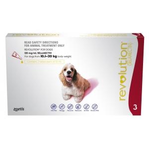Revolution For Dogs 10.1-20Kg Red 3 Pack