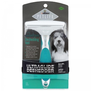 Petlife Professional deShedding Tool for Long Double Coats - Large