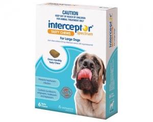 Interceptor Spectrum Chews For Dogs 23-45Kg White 6 Pack