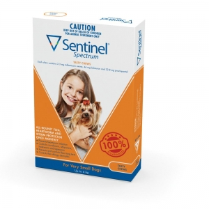 Sentinel Spectrum Chews For Dogs 0-4Kg Brown 6 Pack