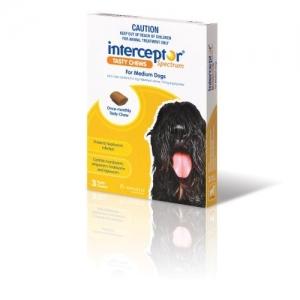 Interceptor Spectrum Chews For Dogs 12-22kg Yellow 3 Pack