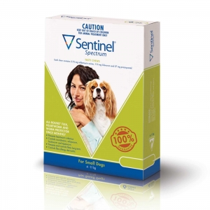Sentinel Spectrum Chews for Dogs 4-11Kg Green 3 Pack