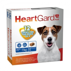 Heartgard Plus Chews For Dogs 0-11Kg Blue 6 Pack