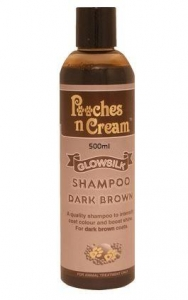 Pooches n Cream Glowsilk Shampoo - Dark Brown 500ml