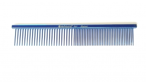 "AC Beauty 7.5"" Medium Coarse/Fine Comb - Blue"