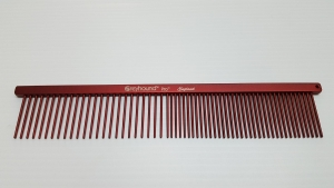 "AC Beauty 7.5"" Medium Coarse/Fine Comb Red"