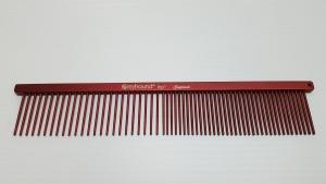 "AC Beauty 7.5"" Medium Coarse/Fine Comb Red"