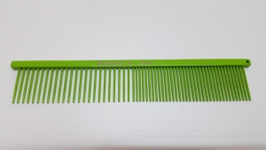 "Ashley Craig GREYHOUND Combs 7.5"" Beauty Medium Coarse/Fine Lime Sparkle"
