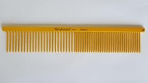 "Ashley Craig GREYHOUND Combs 7.5"" Beauty Medium Coarse/Fine Mango Sparkle"