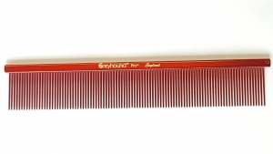 """Ashley Craig GREYHOUND Combs 7.5"""" Finesse Extra Fine Candy Red"""