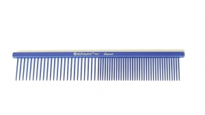 "Ashley Craig Beauty 7.5"" Medium Coarse/Fine Comb - Blueberry Shimmer"