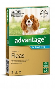 Advantage For Dogs 4-10Kg Aqua 6 Pack