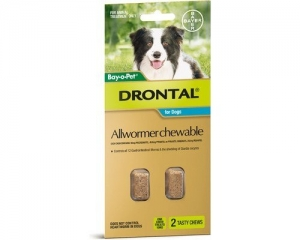 Drontal All Wormer Chews For Dogs 10kg 2 Pack