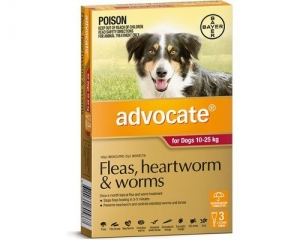 Advocate For Dogs 10-25Kg Red 3 Pack