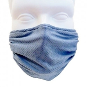 Breathe Healthy Honeycomb Steel Blue Mask