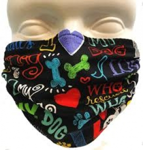 Breathe Healthy I Love My Dog mask