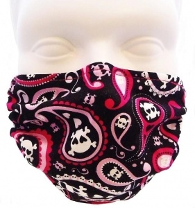 Breathe Healthy Paisley Skulls Mask