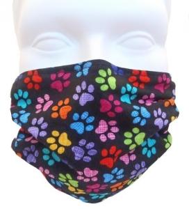 Breathe Healthy Paw Prints Mask